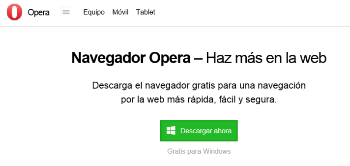 Pagina Oficial de Opera
