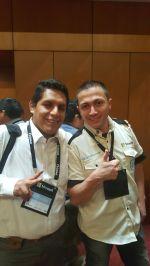 Con Juan Carlos Ruiz