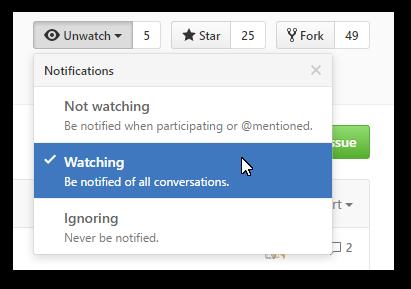 Watching en GitHub